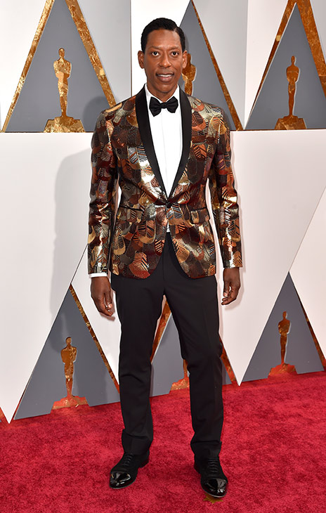 <div class='meta'><div class='origin-logo' data-origin='AP'></div><span class='caption-text' data-credit='Dan Steinberg/Invision/AP'>Orlando Jones arrives at the Oscars on Sunday, Feb. 28, 2016, at the Dolby Theatre in Los Angeles.</span></div>