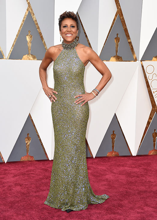 <div class='meta'><div class='origin-logo' data-origin='AP'></div><span class='caption-text' data-credit='Jordan Strauss/Invision/AP'>Robin Roberts arrives at the Oscars on Sunday, Feb. 28, 2016, at the Dolby Theatre in Los Angeles.</span></div>