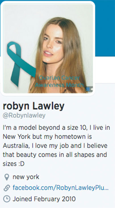 "<div class=""meta ""><span class=""caption-text "">Lawley's Twitter profile states that she is beyond size 10, though she has been cited to be a size 12. (robynlawley1 / Instagram)</span></div>"