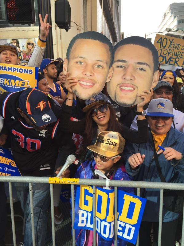 "<div class=""meta image-caption""><div class=""origin-logo origin-image none""><span>none</span></div><span class=""caption-text"">Warriors fans at the Golden State Warriors parade in Oakland on Friday, June 19, 2015.   (ABC7 News/Mike Shuman )</span></div>"
