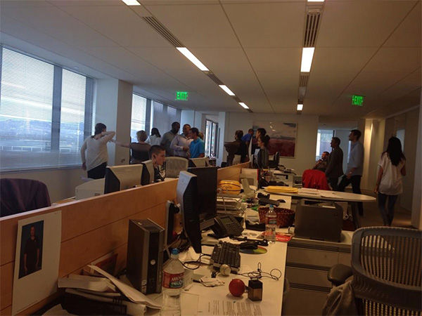 This is what happens at the office when a water line bursts. <span class=meta>(sydneypincus &#47; Twitter)</span>