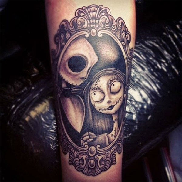"<div class=""meta ""><span class=""caption-text "">Jack and Sally. (thetattoofiend / Instagram)</span></div>"