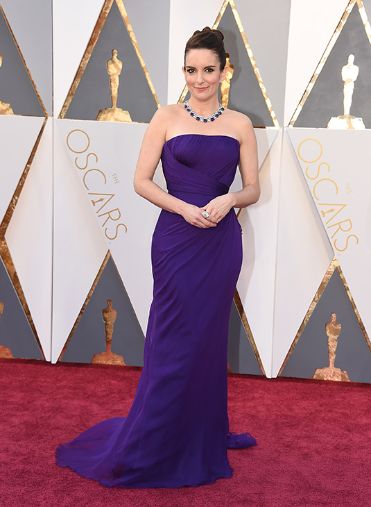 <div class='meta'><div class='origin-logo' data-origin='AP'></div><span class='caption-text' data-credit='Jordan Strauss/Invision/AP'>Tina Fey arrives at the Oscars on Sunday, Feb. 28, 2016, at the Dolby Theatre in Los Angeles.</span></div>