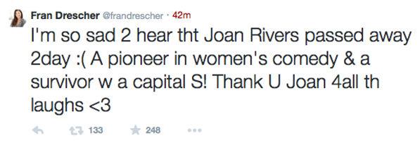 Fran Drescher <span class=meta>Fran Drescher/Twitter</span>
