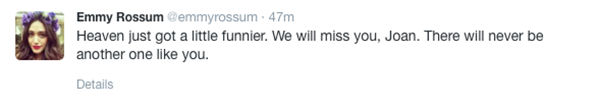 Emmy Rossum <span class=meta>Emmy Rossum/Twitter</span>