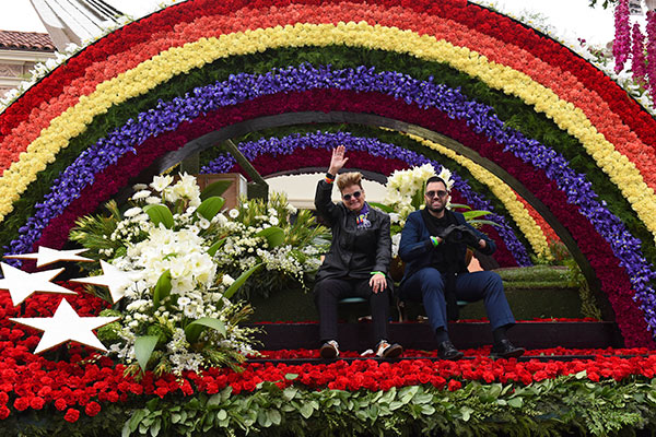 <div class='meta'><div class='origin-logo' data-origin='AP'></div><span class='caption-text' data-credit='AP Photo/Michael Owen Baker'>The AIDS Healthcare Foundation float &#34;To Honor And Remember Orlando,&#34; winner of the Lathrop K. Leishman Trophy for most-beautiful noncommercial float.</span></div>