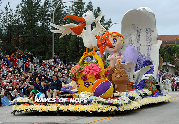 "<div class=""meta image-caption""><div class=""origin-logo origin-image ap""><span>AP</span></div><span class=""caption-text"">The Northwestern Mutual ""Waves of Hope"" float, winner of the Animation Trophy rolls along the 128th Rose Parade in Pasadena, Calif., Monday, Jan. 2, 2017.  (AP Photo/Michael Owen Baker)</span></div>"