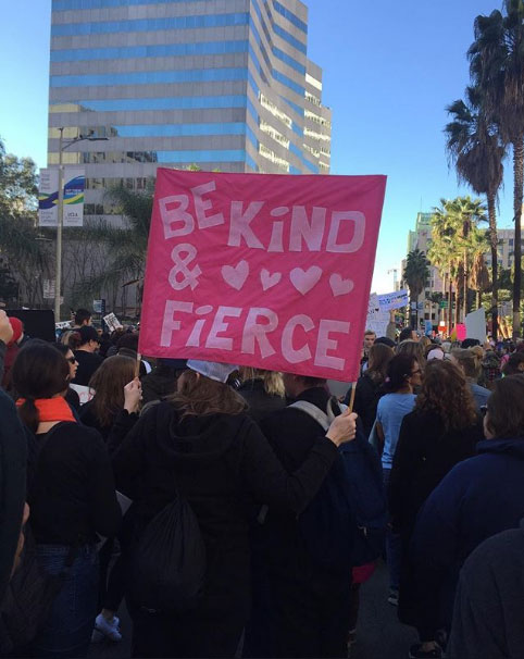 <div class='meta'><div class='origin-logo' data-origin='none'></div><span class='caption-text' data-credit='Yasmin Garcia'>Demonstrators created signs and posters for the Women's Marches across Southern California on Saturday, Jan. 21, 2017.</span></div>