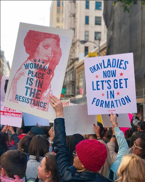 <div class='meta'><div class='origin-logo' data-origin='none'></div><span class='caption-text' data-credit='Angela Gamba Hanks'>Demonstrators created signs and posters for the Women's Marches across Southern California on Saturday, Jan. 21, 2017.</span></div>