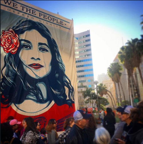 "<div class=""meta image-caption""><div class=""origin-logo origin-image none""><span>none</span></div><span class=""caption-text"">Demonstrators created signs and posters for the Women's Marches across Southern California on Saturday, Jan. 21, 2017. (smaddielope)</span></div>"