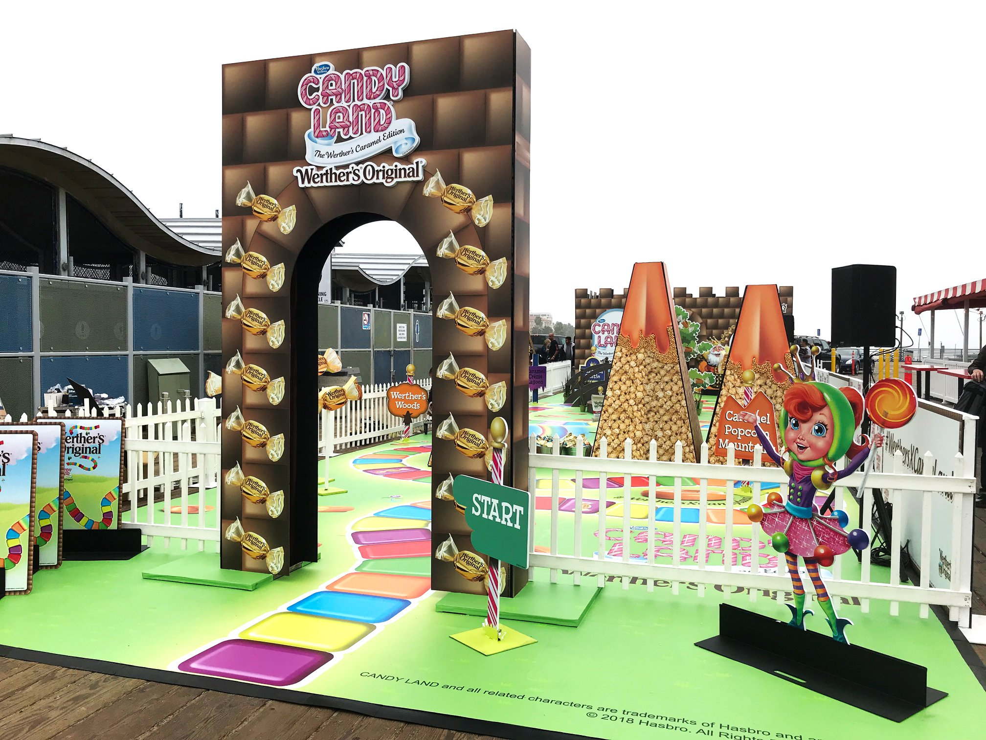 <div class='meta'><div class='origin-logo' data-origin='KABC'></div><span class='caption-text' data-credit='Werther's Original'>A life-sized Candy Land has popped up for one day only on the Santa Monica Pier!</span></div>