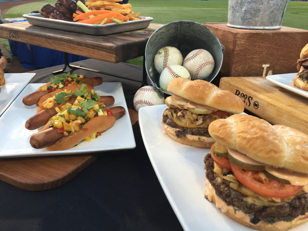 "<div class=""meta image-caption""><div class=""origin-logo origin-image none""><span>none</span></div><span class=""caption-text"">King Hawaiian Dodger Dogs and the Gouda Kobe Burgers are on display at Dodger Stadium. (KABC)</span></div>"