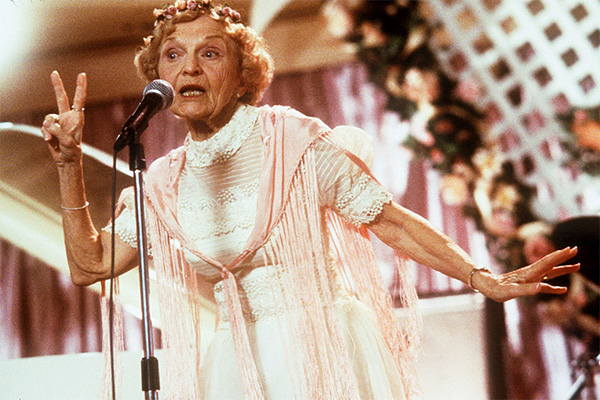 <div class='meta'><div class='origin-logo' data-origin='none'></div><span class='caption-text' data-credit='New Line Cinema/handout'>Ellen Albertini Dow, a feisty character actress best known for her salty rendition of 'Rapper's Delight' in 'The Wedding Singer,' died Monday, May 4, 2015. She was 101.</span></div>