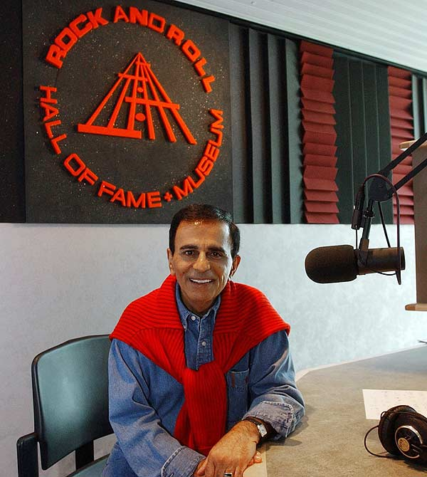 Rock 'n' roll radio personality Casey Kasem is pictured at the Rock and Roll Hall of Fame in Cleveland, Tuesday, July 29, 2003. <span class=meta>AP/David G. Massey</span>