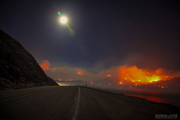 <div class='meta'><div class='origin-logo' data-origin='KABC'></div><span class='caption-text' data-credit='Michael Cuffe/@mikecuffe'>The moon rises as the Erskine Fire rages through the Kern River Valley.</span></div>