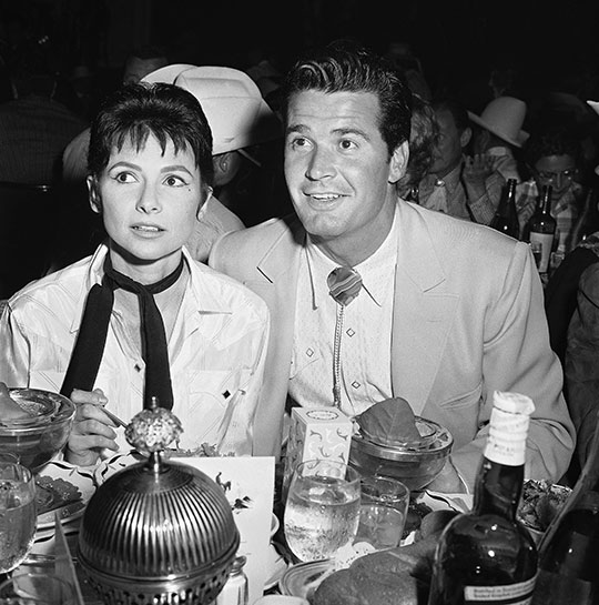 <div class='meta'><div class='origin-logo' data-origin='~ORIGIN~'></div><span class='caption-text' data-credit='AP Photo'>Jim Garner and his wife Lois attend the benefit party thrown by Share, Inc., on May 9, 1958, in Los Angeles.</span></div>