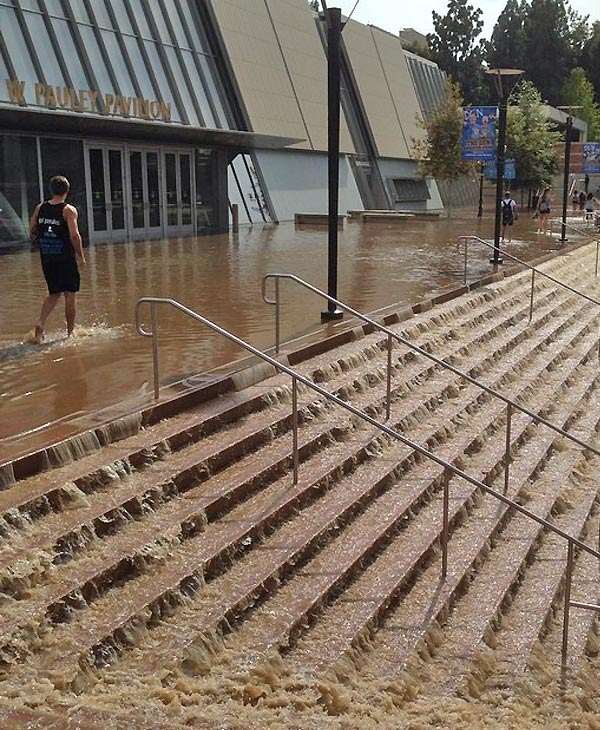 Westwood water-main break, UCLA campus, July 29, 2014. <span class=meta>Chun-Ming Zhang</span>