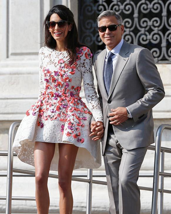 PHOTOS: George Clooney, Amal Alamuddin's Italian wedding ...