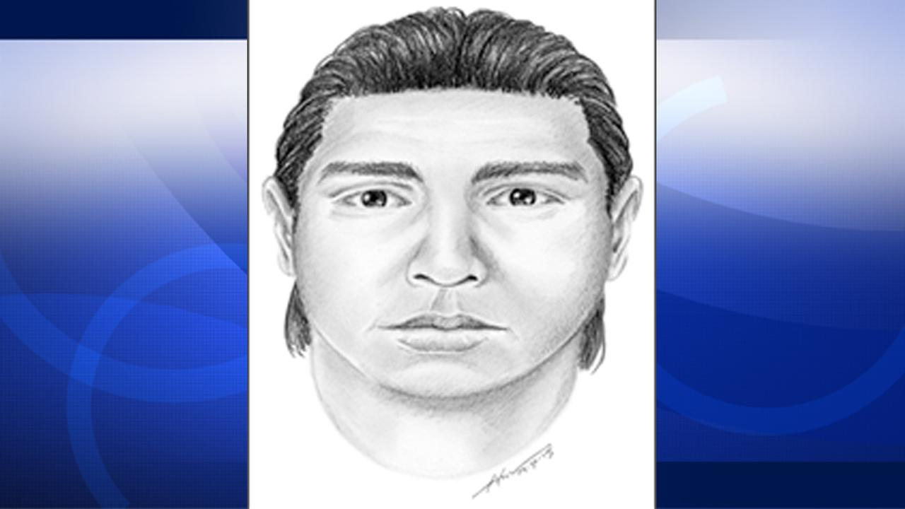 A suspect wanted in a sexual assault in Northridge is seen in this sketch provided by the Los Angeles Police Department.