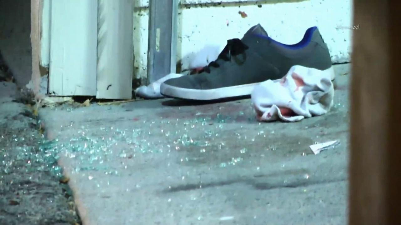 A shoe found at the scene of a shooting of a man in West Hills early Sunday, Oct. 4, 2015.