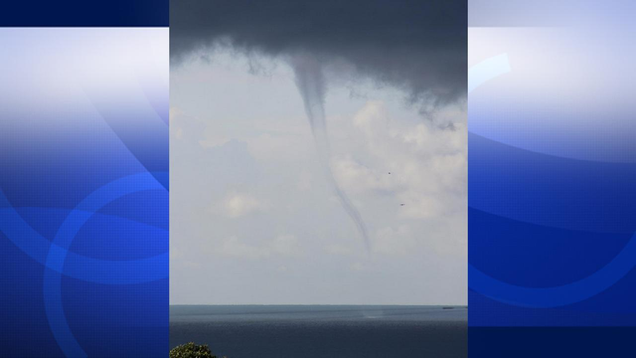 Geoffrey Jr. shared this photo of a waterspout in San Pedro on Monday, Oct. 5, 2015.