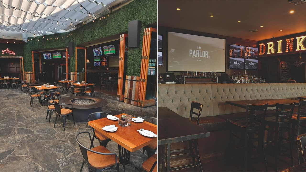The Parlor is located at 7250 Melrose Avenue in the Fairfax District of Los Angeles.
