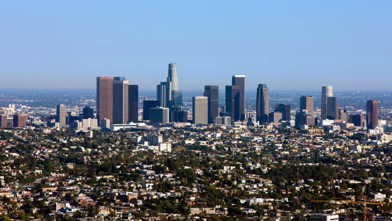 File photo of downtown Los Angeles.
