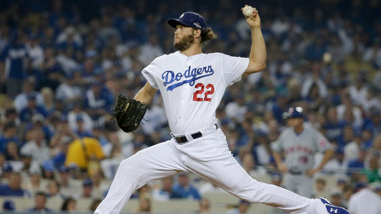 Los Angeles Dodgers starting pitcher Clayton Kershaw throws against the New York Mets during the first inning in Game 1 of baseballs National League Division Series.