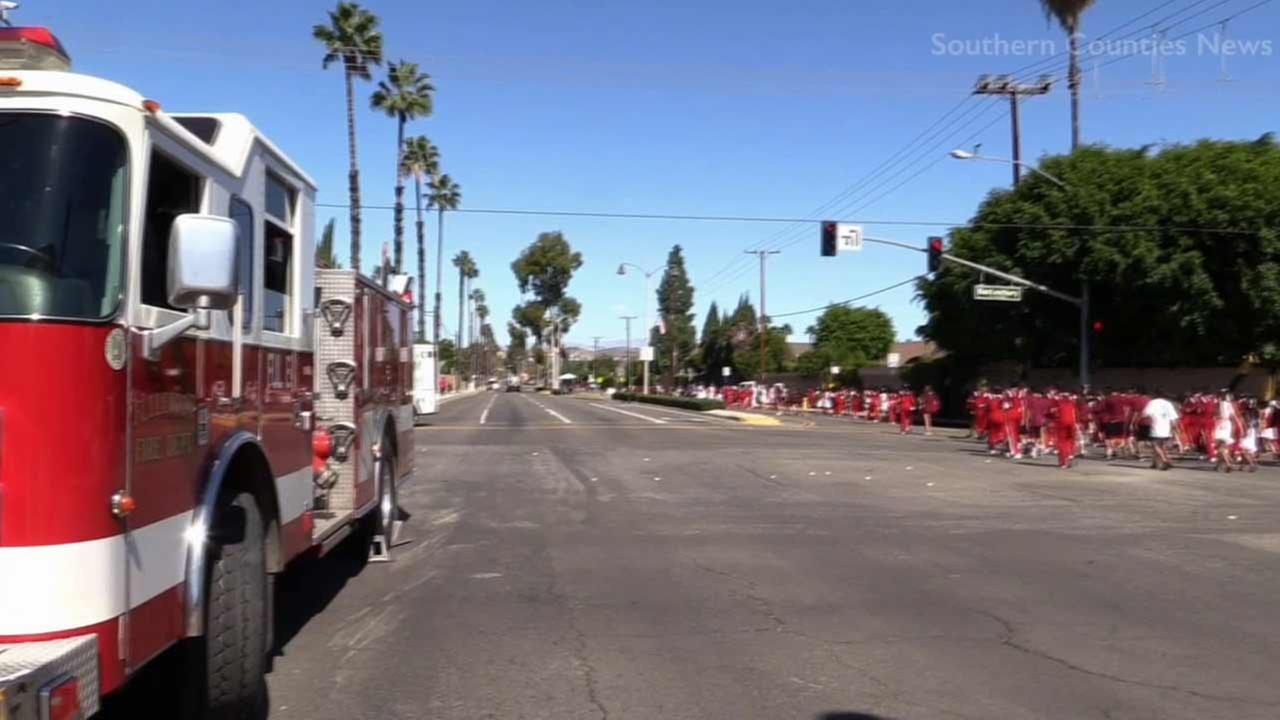 Orange County firefighters treated dozens suffering from heat-related illnesses at the Heritage Day Parade in Placentia on Saturday, Oct. 10, 2015.
