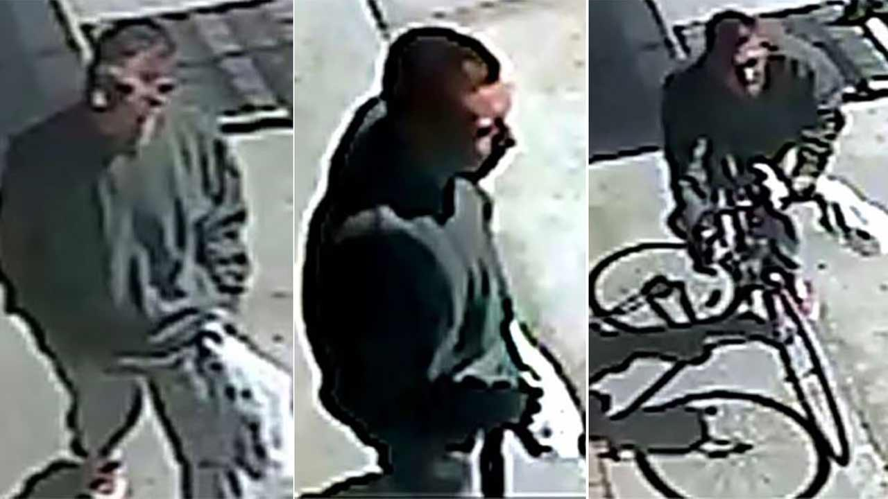 Sheriffs deputies released several photos Monday, Oct. 12, 2015 of a suspect who has allegedly been robbing several businesses in the East Los Angeles area at gunpoint.