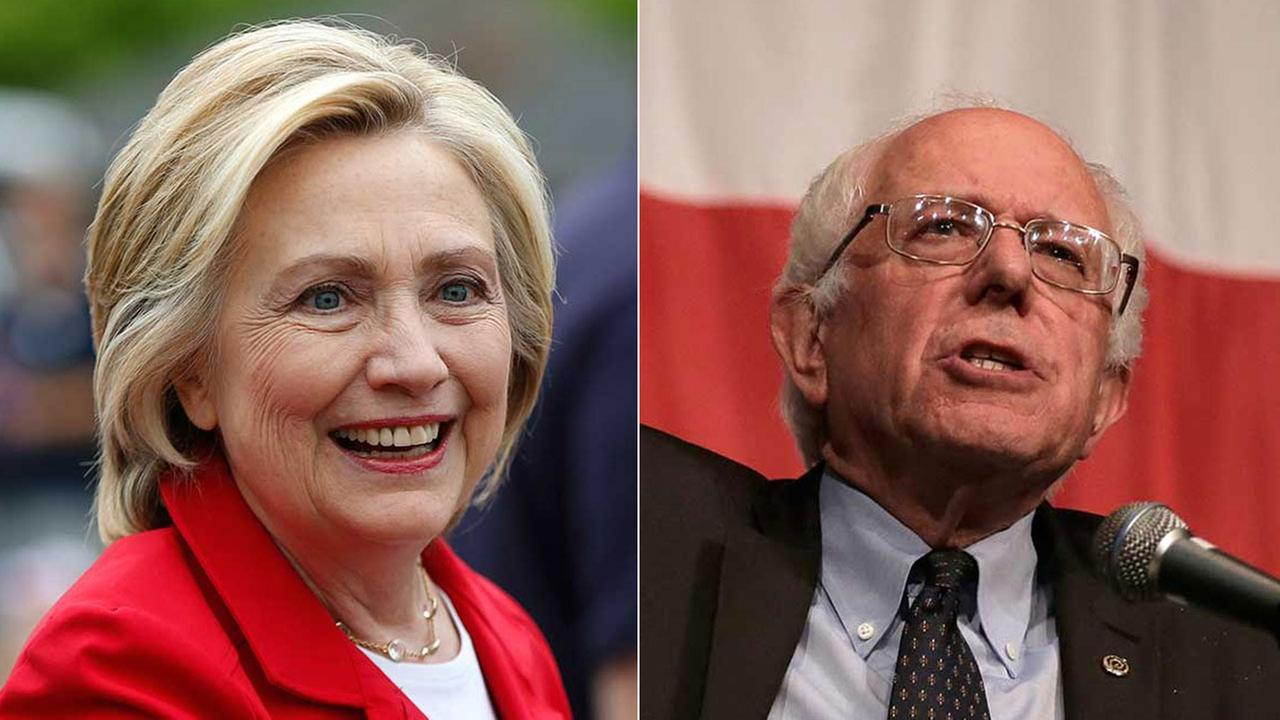 Democratic presidential candidates Hillary Rodham Clinton and Bernie Sanders are shown in file photos.