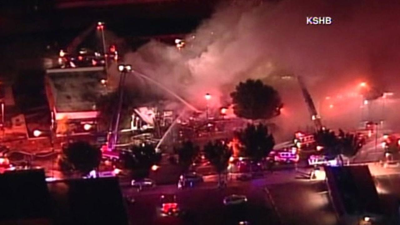 A massive fire at a building in Kansas City, Missouri claimed the life of two firefighters on Monday, Oct. 12, 2015.