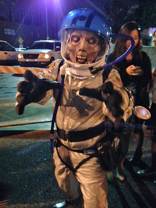 <div class='meta'><div class='origin-logo' data-origin='none'></div><span class='caption-text' data-credit=''>A reveler shows their Halloween spirit at the West Hollywood Carnaval on Friday, Oct. 31, 2014.</span></div>