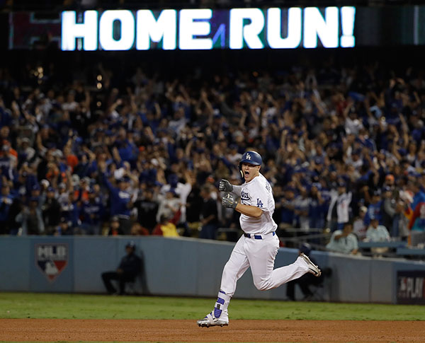 <div class='meta'><div class='origin-logo' data-origin='AP'></div><span class='caption-text' data-credit='AP Photo/Matt Slocum'>Joc Pederson's home run in the seventh inning put the Dodgers up 3-1 over the Houston Astros in Game 6 of the World Series in Los Angeles on Tuesday, Oct. 31, 2017.</span></div>