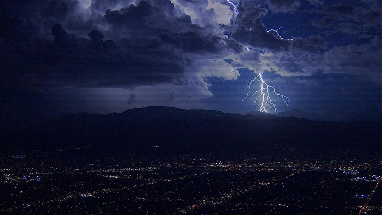 AIR7 HD captured this spectacular lightning flash in La Crescenta on Thursday, Oct. 15, 2015.