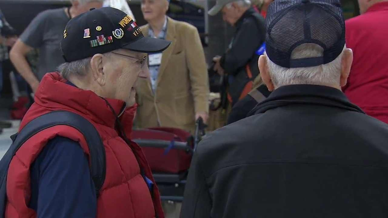 Honor Flight sent nearly 70 veterans on an emotional, all-expenses-paid trip to Washington D.C. Friday, Oct. 23, 2015 to visit the memorials dedicated to their service.