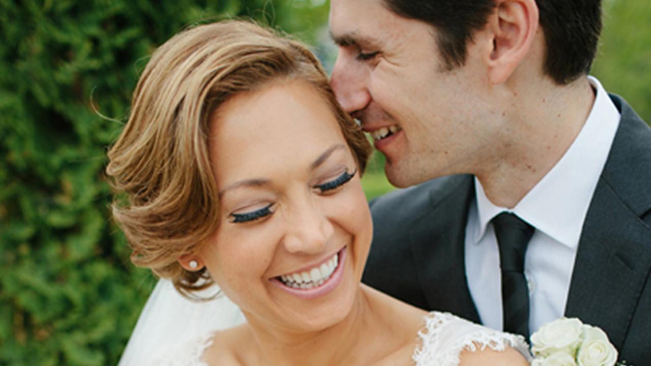 good morning america ginger zee and her husband ben aaron in their wedding photo - Ben Aaron