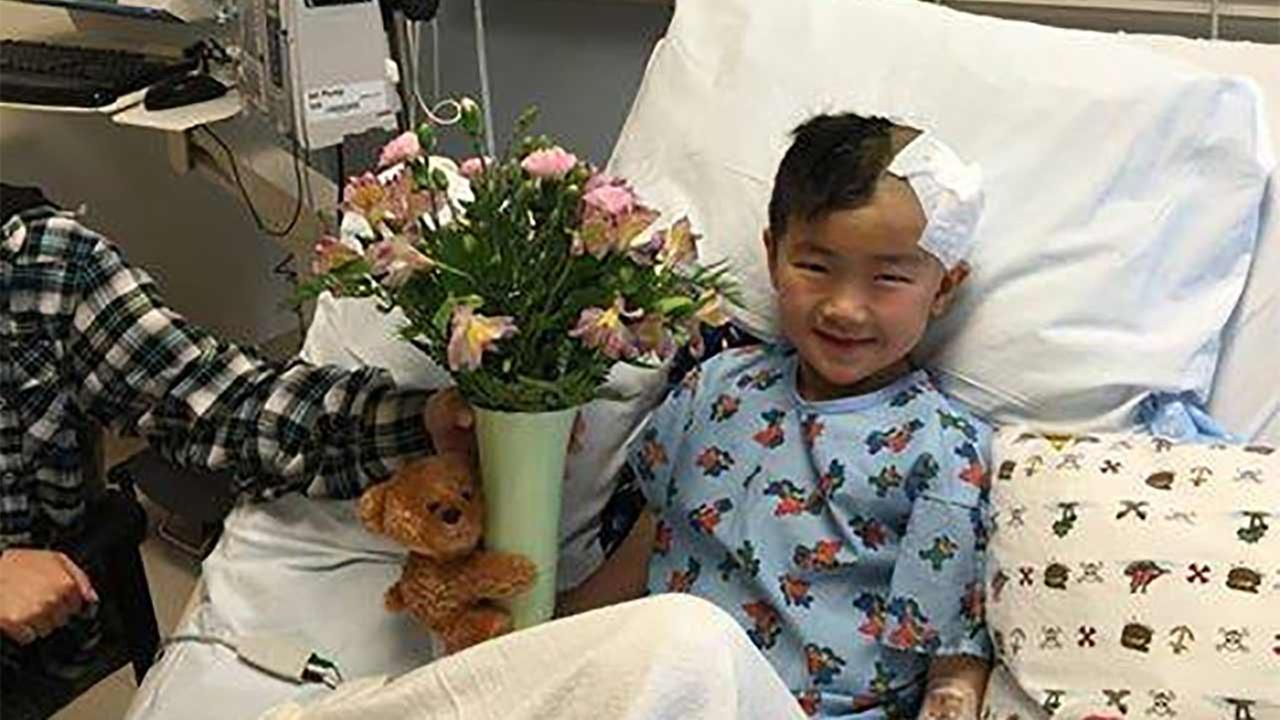 Jeremy Tsou, 7, fractured his skull at Baldwin Stocker Elementary School in Arcadia.