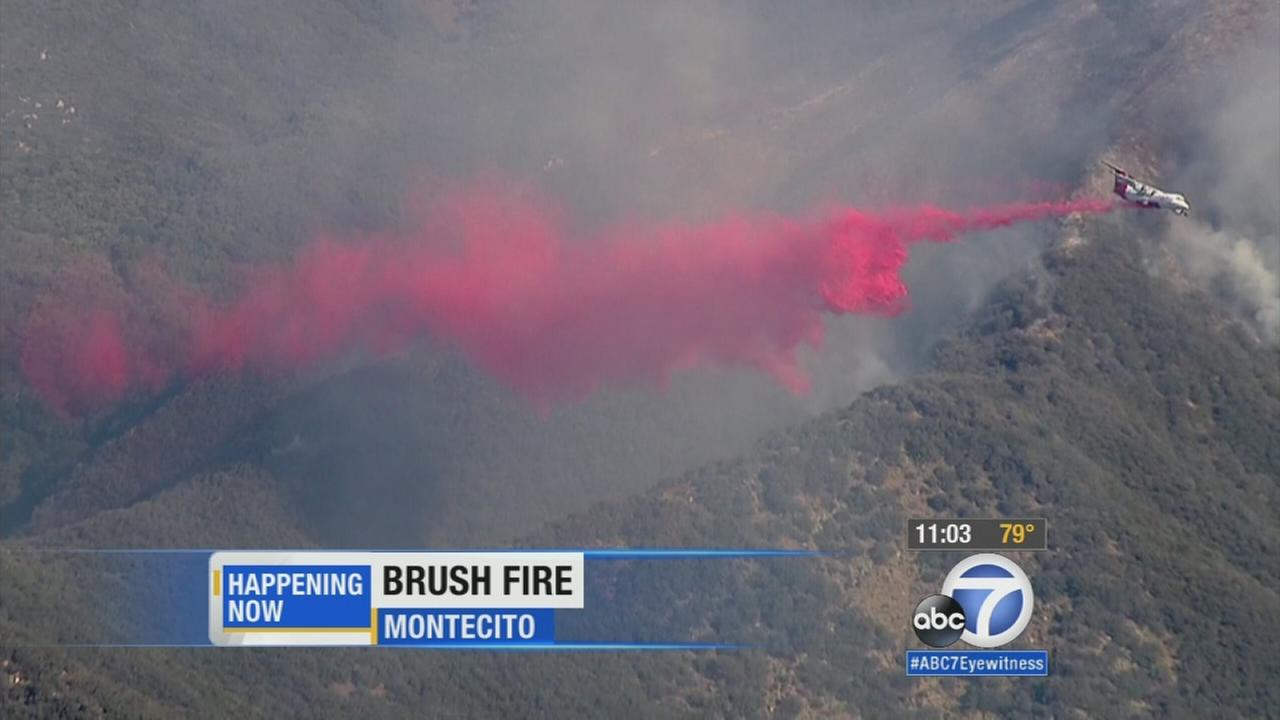 The Gibraltar Fire broke out in the Los Padres National Forest above Santa Barbara and Montecito Thursday, Oct. 29, 2015.