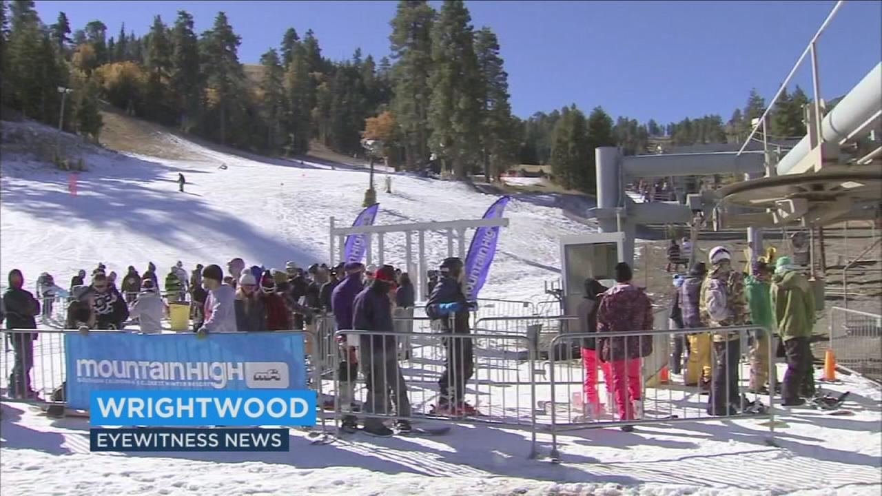 Mountain High ski resort in Wrightwood reopened Friday, Nov. 6, 2015.