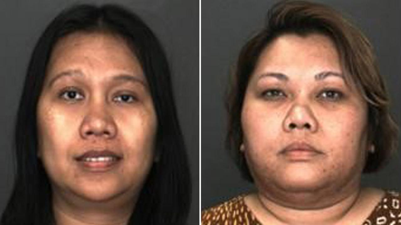 Roselina Sihotang, left, and Marselyn Sihotang, right, are shown in mugshots taken by the Rancho Cucamonga Police Department.