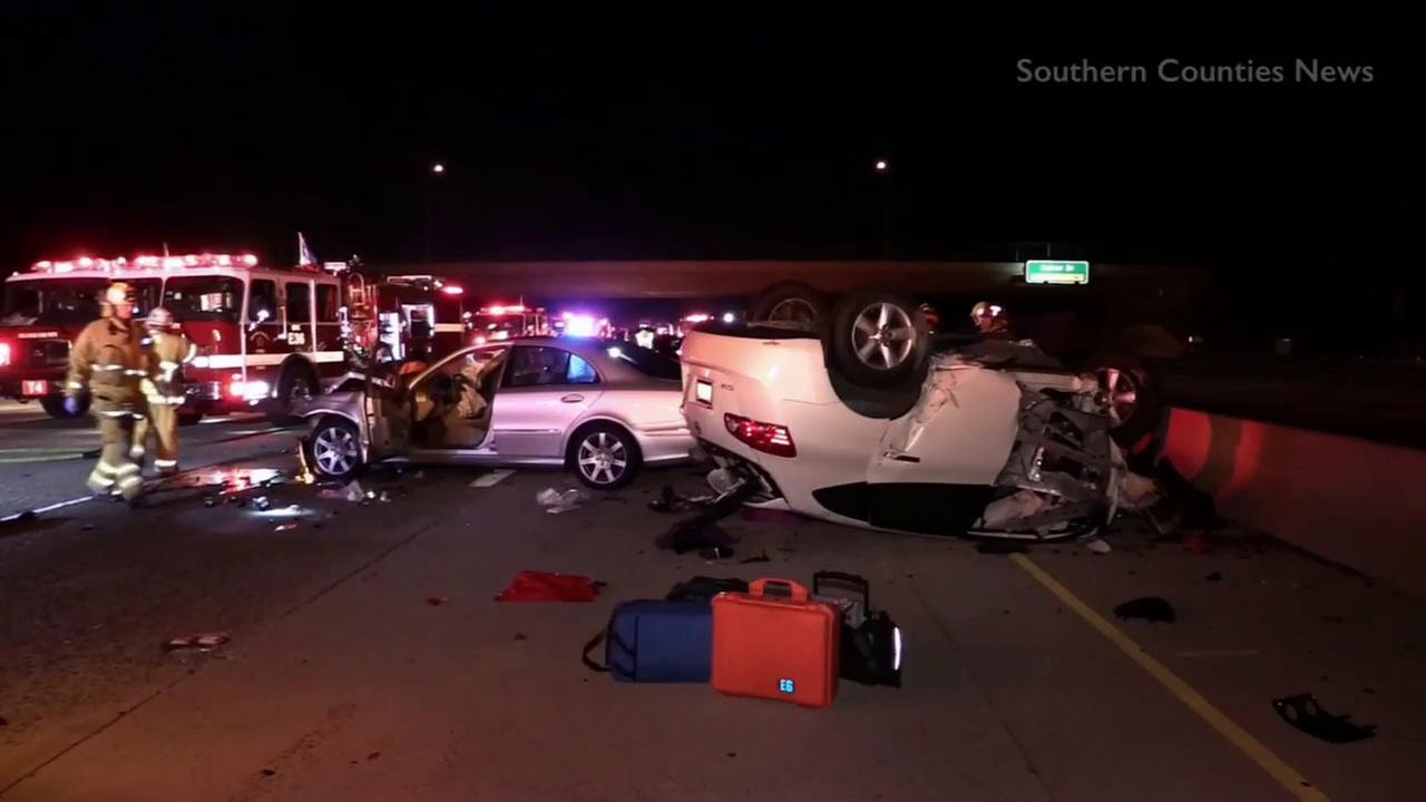 car accident 5 freeway irvine