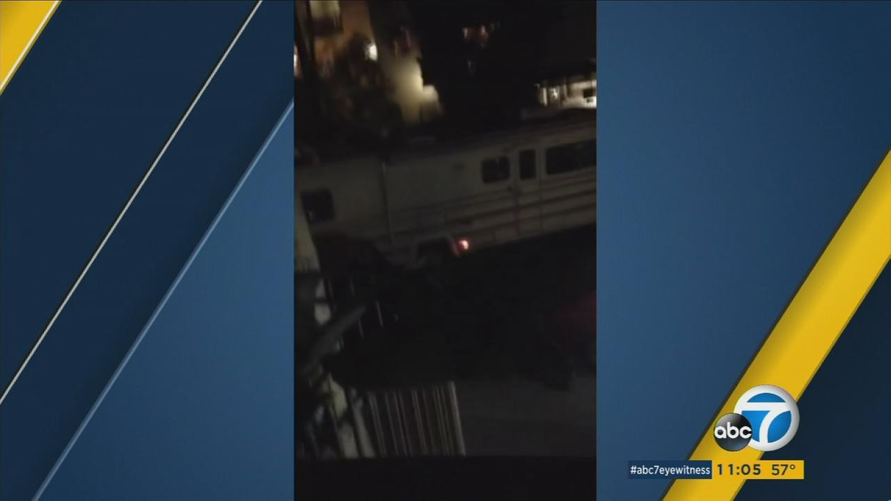 The driver of an RV smashed into at least six parked cars near Rochester and Butler avenues in the Sawtelle area of West Los Angeles on Sunday, Nov. 1, 2015.