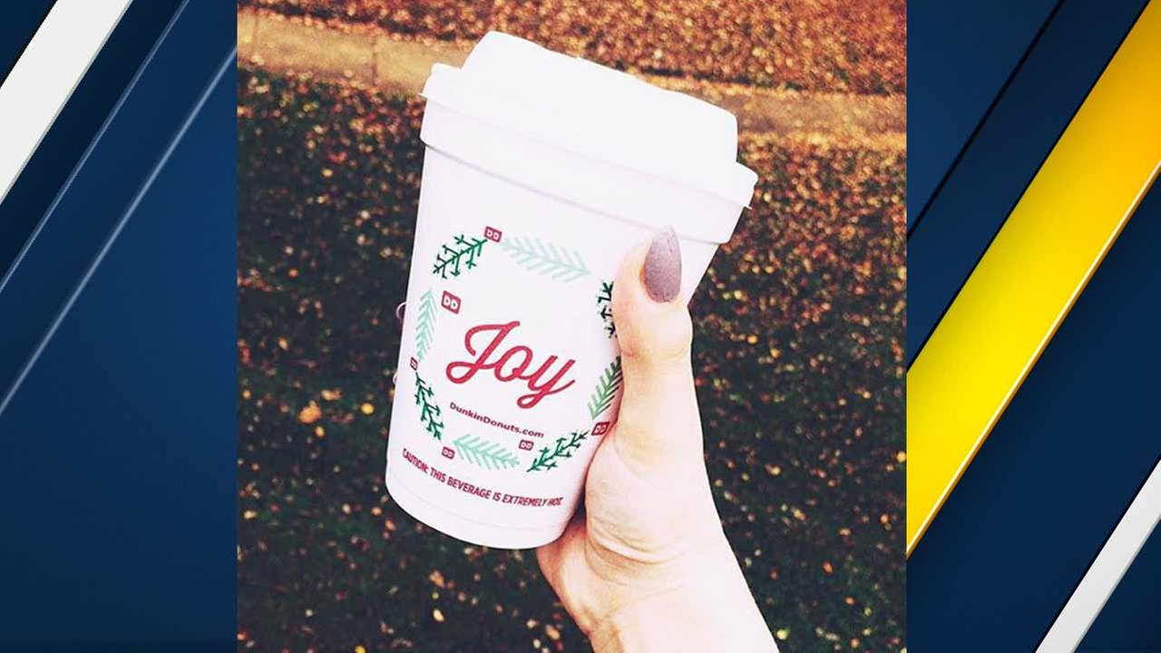 Dunkin Donuts unveiled its holiday cup on its Instagram account.