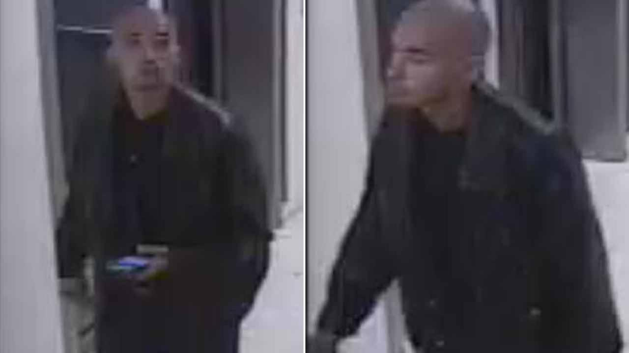 A Hispanic man in his mid-20s was captured on surveillance video after police say he allegedly robbed a Macys in Redondo Beach Thursday, Nov. 19, 2015.