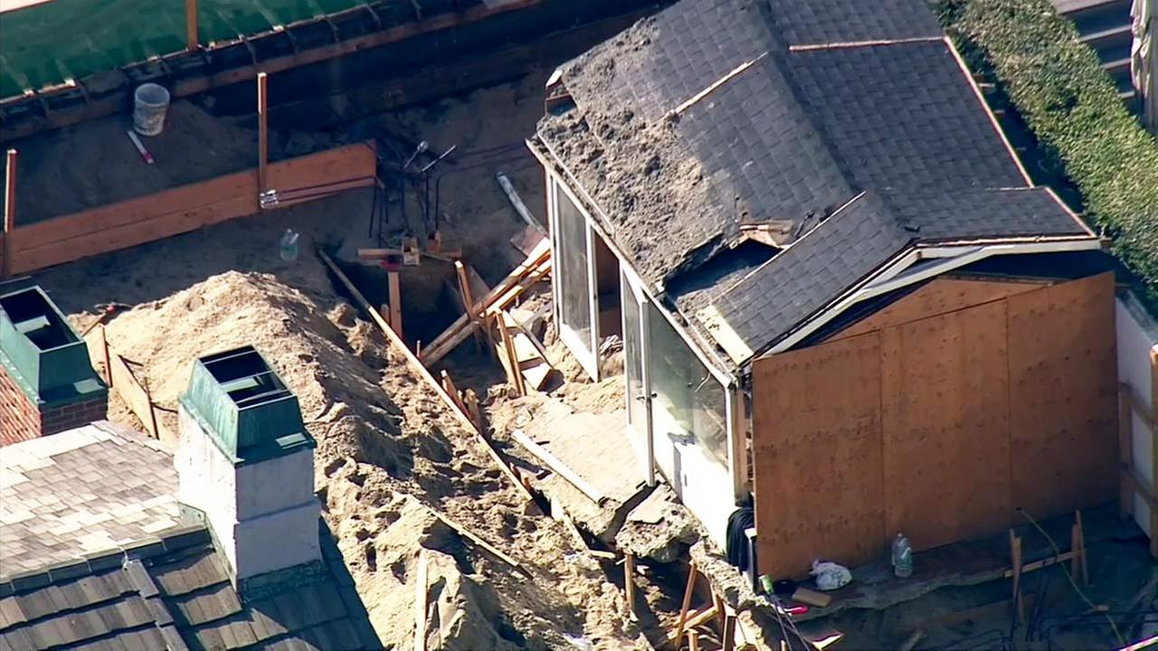 One person suffered traumatic injuries after a patio collapsed at a property in Malibu on Tuesday, Nov. 24, 2015.