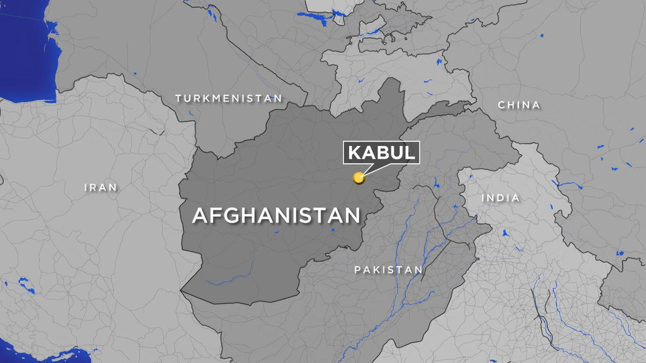 A map shows the location of Kabul, Afghanistan.