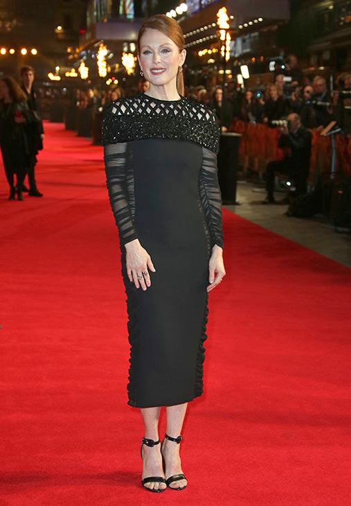 "<div class=""meta image-caption""><div class=""origin-logo origin-image ""><span></span></div><span class=""caption-text"">Julianne Moore poses for photographers upon arrival to the world premiere of 'The Hunger Games: Mockingjay Part 1' in London, Monday, Nov. 10, 2014.  (Joel Ryan/Invision/AP)</span></div>"
