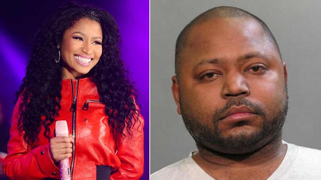 Nicki Minaj (left) is seen performing at Hot 97 Summer Jam on Sunday, June 07, 2015. This photo (right) shows Jelani Maraj, 37, on Wednesday, Dec. 2, 2015, in Mineola, N.Y.