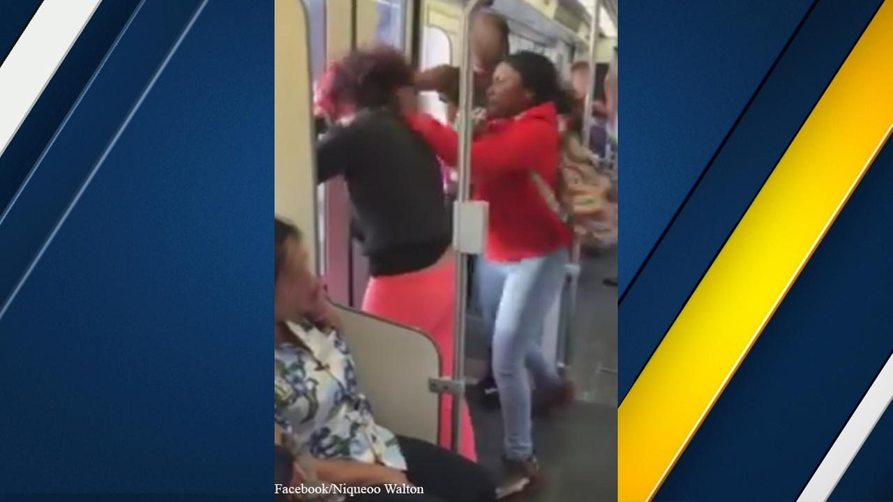 Los Angeles County Sheriffs Department Transit deputies hope people will come forward with information after an assault on a train was recorded on Tuesday, Dec. 8, 2015.